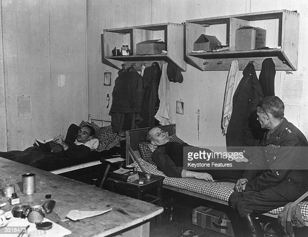 Polish prisoners of war who have been liberated recuperating in the camp hospital