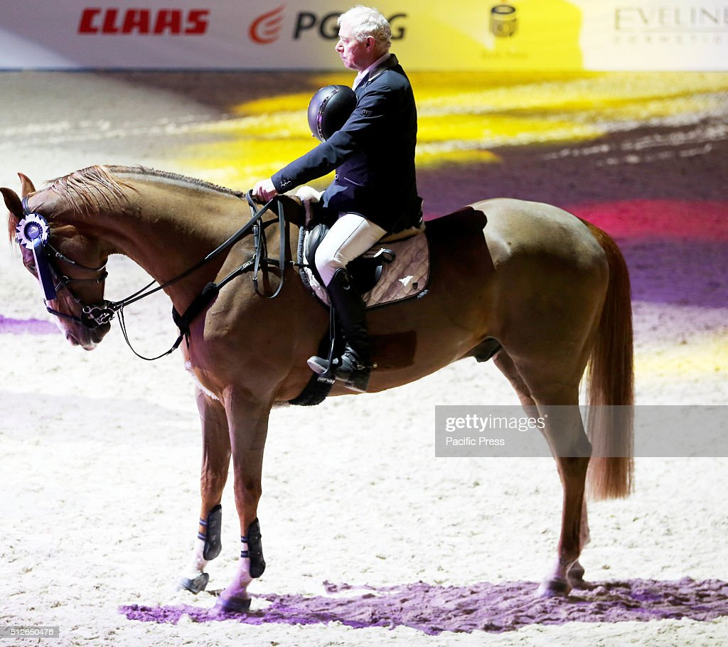 Polish rider pawe jurkowski and his horse for me 18 are for Show pool horse racing