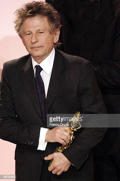 Polishborn director Roman Polanski receives best foreign film for the 'The Pianist' at the David Di Donatello Awards April 9 2003 in Rome Italy