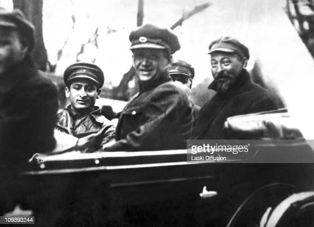 Polishborn Felix Edmundovich Dzerzhinsky with V A Balitskiy and his assistant Stanislav Frantsevich Redens May 1926 Dzerzhinsky was the founder of...