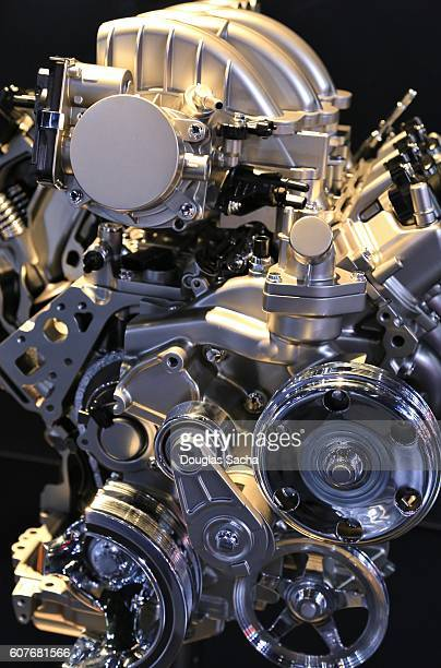 Polished Mechanical Engine Assembly