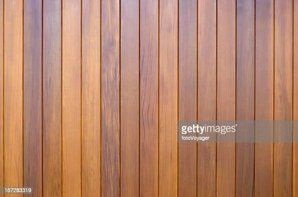 Polished wooden slats