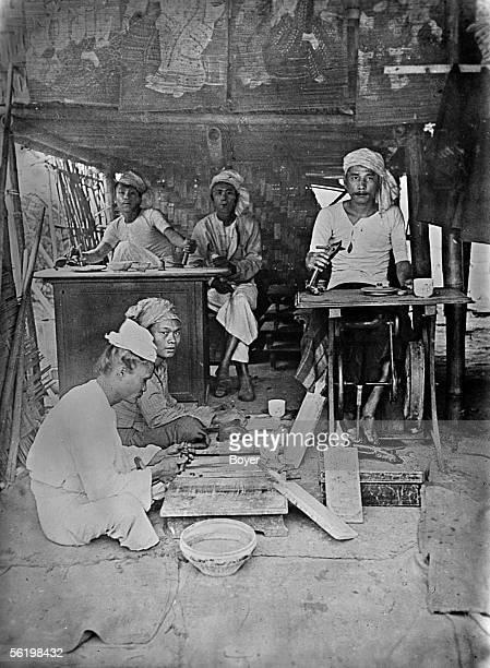 Polishers of Ruby Mogok about 1900