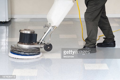 Polishing An Office Floor - Janitor Series