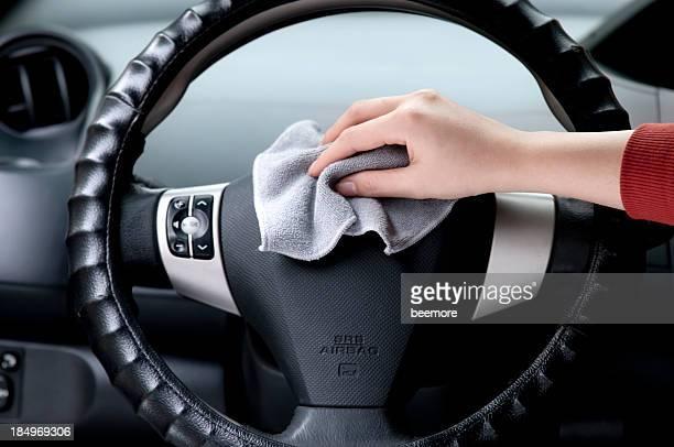 Polieren Auto Lenkrad