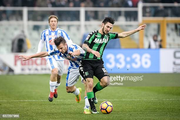 Politano Matteo during the match Pescara vs Sassuolo of sere A TIM in Pescara Italy on 22 January 2017