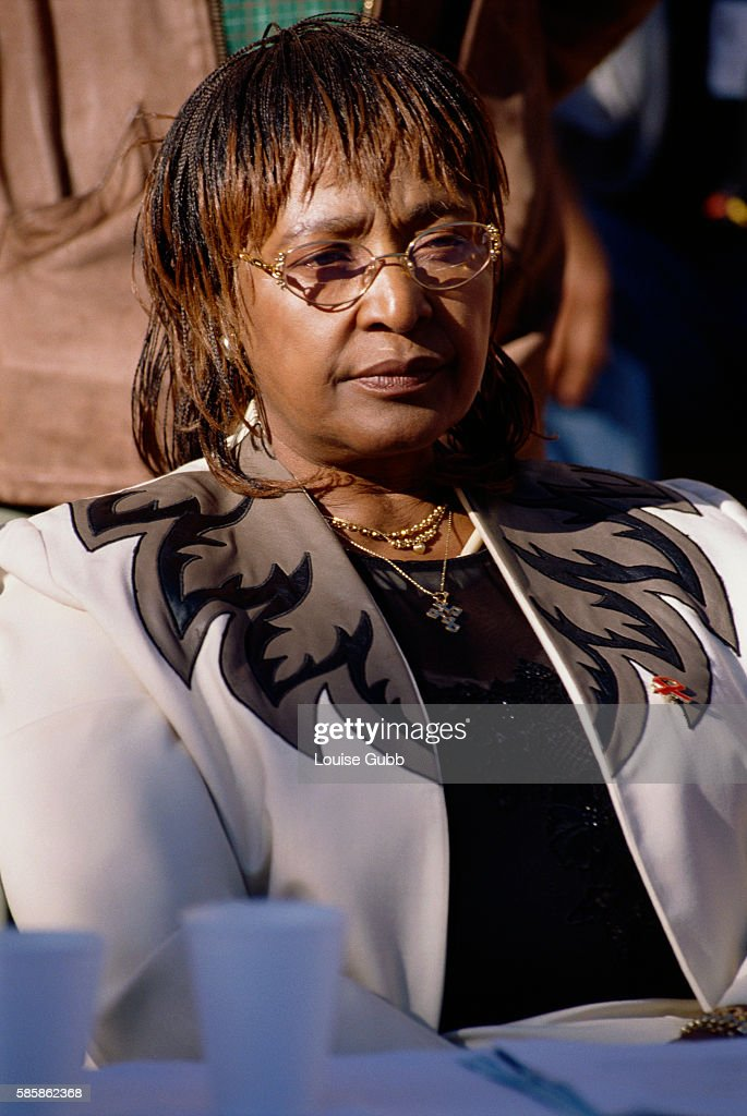 Political activist Winnie Mandela attending the International AIDS Conference 2000 in Durban South Africa