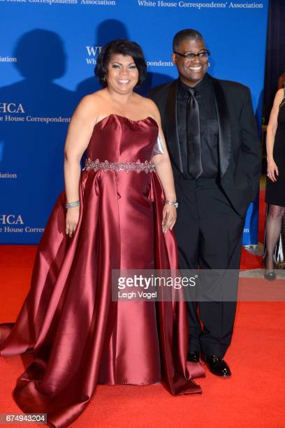 CNN political analyst April Ryan attends the 2017 White House Correspondents' Association Dinner at Washington Hilton on April 29 2017 in Washington...