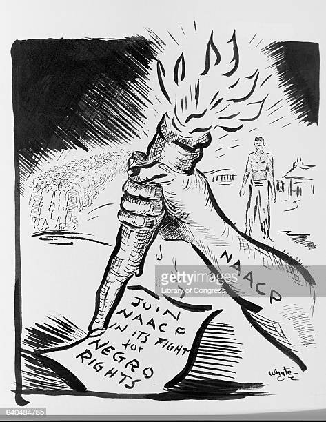 A political cartoon that appeared in the Louisville Defender in September during a membership drive by the local division of the National Association...