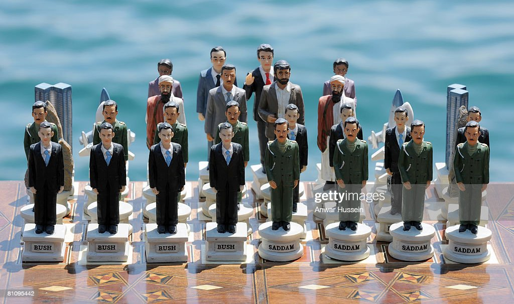 A political chess set on display during the Queen's State Visit to Turkey on May 15, 2008 in Istanbul, Turkey. Queen Elizabeth II and Prince Philip, Duke of Edinburgh are in Ankara for a four day state visit to Turkey, the Queen's first visit to Turkey for 37 years.