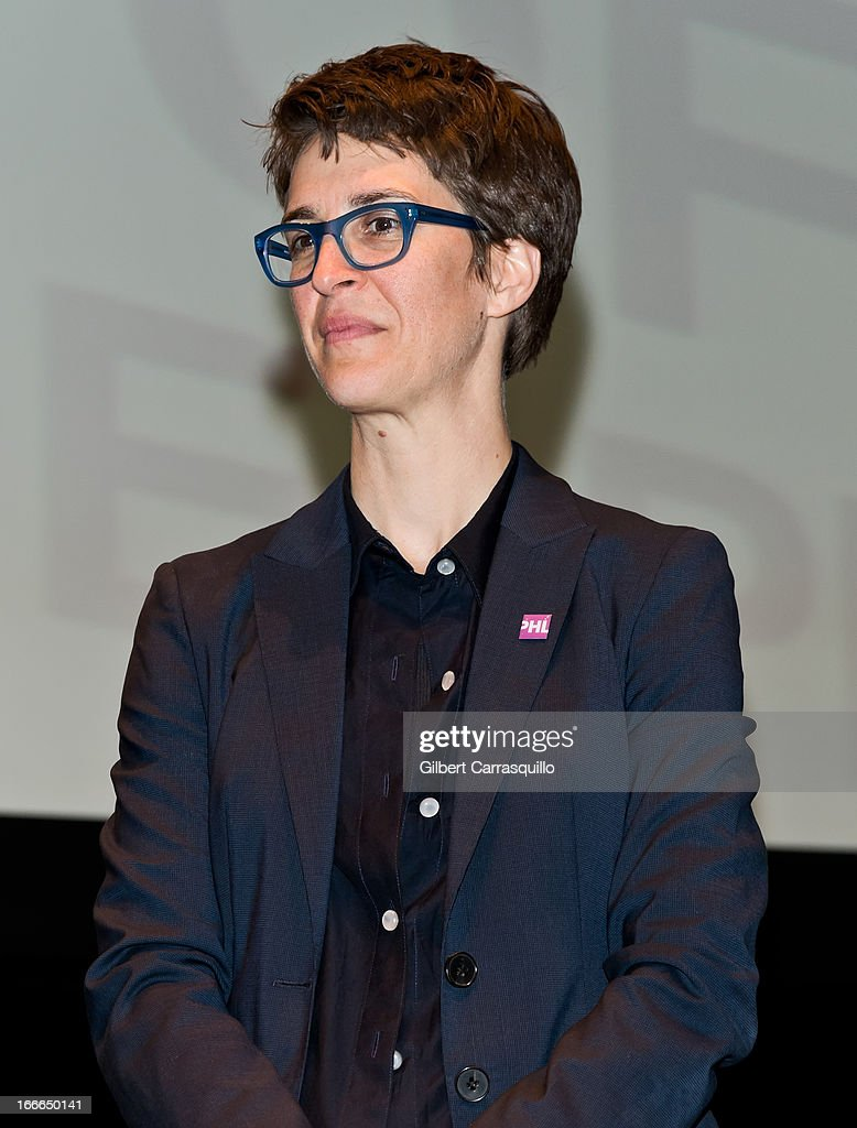 Political commentator and MSNBC host Rachel Maddow attends the 2013 Philadelphia Book Festival at Irvine Auditorium on April 14, 2013 in Philadelphia, Pennsylvania.