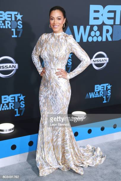 Political commentator at CNN Angela Rye arrives at the 2017 BET Awards at Microsoft Theater on June 25 2017 in Los Angeles California