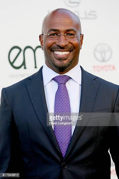 Political commentator Van Jones attends the Environmental Media Association 26th Annual EMA Awards Presented By Toyota Lexus And Calvert at Warner...