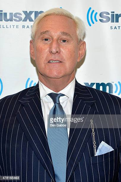 Political consultant Roger Stone visits SiriusXM Studios on March 12 2014 in New York City