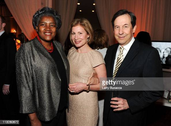 Political Correspondent Donna Brazile and journalist Chris Wallace ...