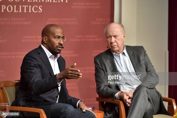 Political Correspondent Van Jones speaks at Harvard University John F Kennedy Junior Forum on 'Love and Resistance Van Jones on his Progressive Path...