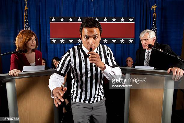 Political Debate with a Referee