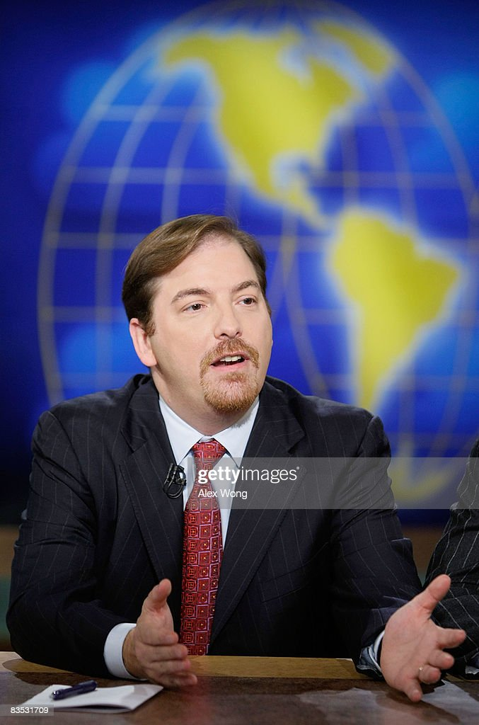 NBC political director Chuck Todd speaks during a taping of 'Meet the Press' at the NBC studios November 2 2008 in Washington DC The guests discussed...
