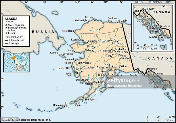 Political Map Of Alaska Political Map Of The State Of Alaska