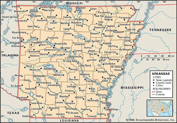 Political Map Of Arkansas Pictures Getty Images - Political map of arkansas