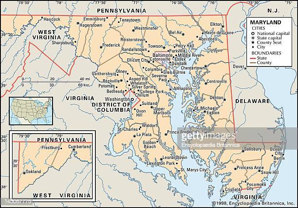 Baltimore Maryland Map Stock Photos And Pictures Getty Images - Maryland city map