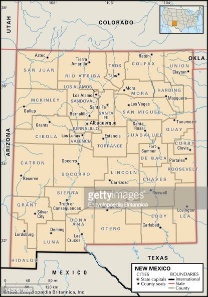 Political Map Of New Mexico Pictures  Getty Images