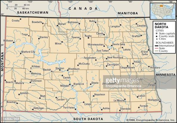 Political Map Of North Dakota Pictures  Getty Images