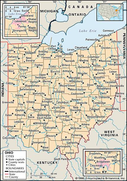 Political Map Of Ohio Pictures Getty Images - Mapofohio