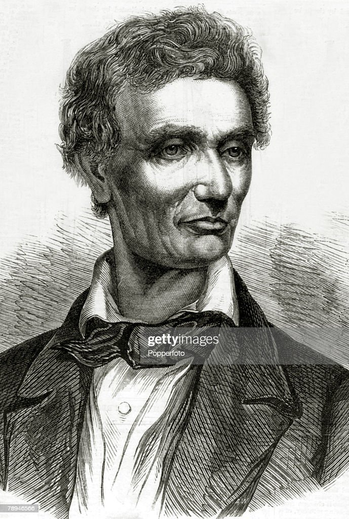 Political Personalities, USA, Illustration from the Illustrated London News from 1860, pic: 1860, Abraham Lincoln, (1809-1865) who was to become the 16th President of the United States