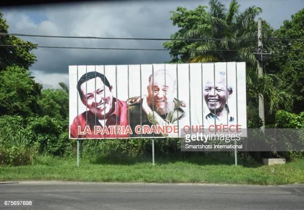 Political propaganda on the roads of Havana, Cuba