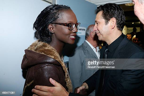 Political Rama Yade and humorist Laurent Gerra posing backstage after the show attend Laurent Gerra celebrates its 25year career with a show at...
