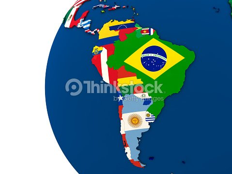 Political South America Map Stock Photo Thinkstock