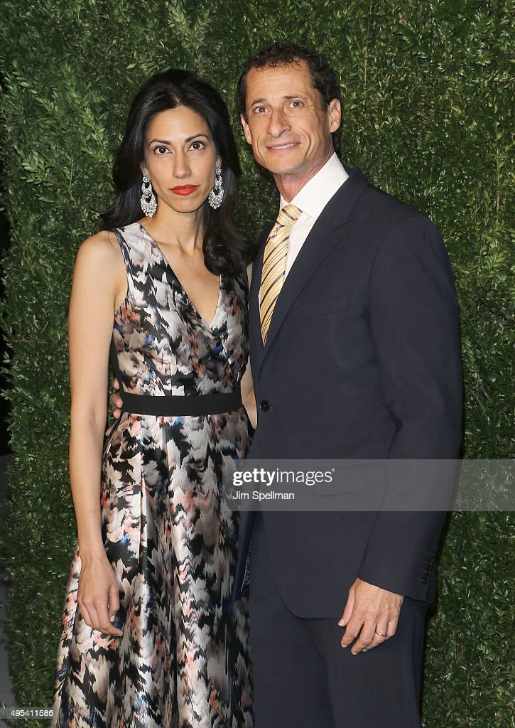 Political staffer <a gi-track='captionPersonalityLinkClicked' href=/galleries/search?phrase=Huma+Abedin&family=editorial&specificpeople=2807937 ng-click='$event.stopPropagation()'>Huma Abedin</a> and former U.S. Representative <a gi-track='captionPersonalityLinkClicked' href=/galleries/search?phrase=Anthony+Weiner&family=editorial&specificpeople=821661 ng-click='$event.stopPropagation()'>Anthony Weiner</a> attend the 12th annual CFDA/Vogue Fashion Fund Awards at Spring Studios on November 2, 2015 in New York City.