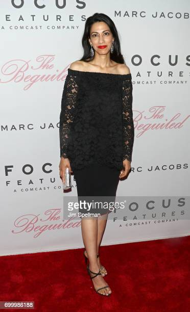 Political staffer Huma Abedin attends 'The Beguiled' New York premiere at The Metrograph on June 22 2017 in New York City