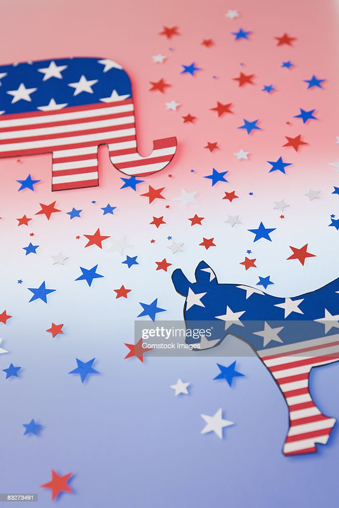 Political symbols : Stock Photo
