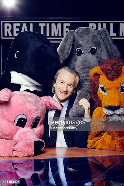 Political television host Bill Maher for The Hollywood Reporter on August 6 2015 in Culver City California