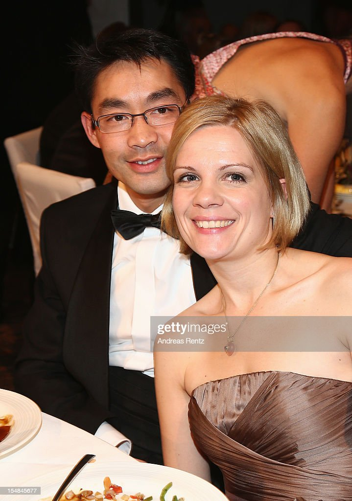 Politican Philipp Roesler and wife Wiebke Roesler attend the 21st UNESCO Charity Gala 2012 on October 27, 2012 in Dusseldorf, Germany.