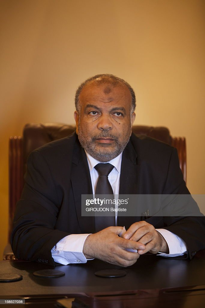 Politican Saad El Katatni, Chairman of the Freedom and Justice Party poses on December 5, 2012 in Cairo,Egypt.