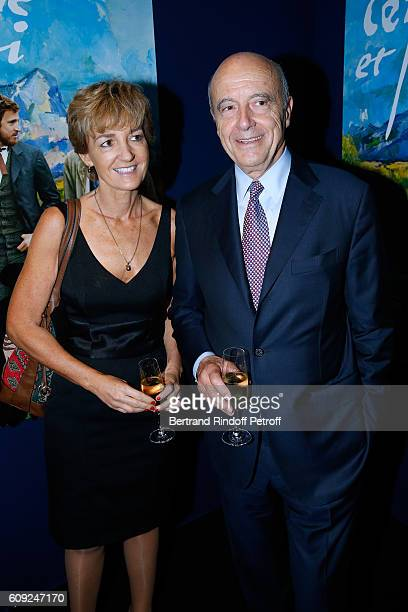 Politician Alain Juppe and his wife Isabelle attend the 'Cezanne et Moi' movie Premiere to Benefit 'Claude Pompidou Foundation' Held at UGC Normandie...