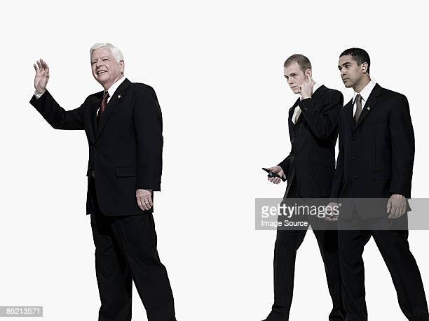 Politician and bodyguards