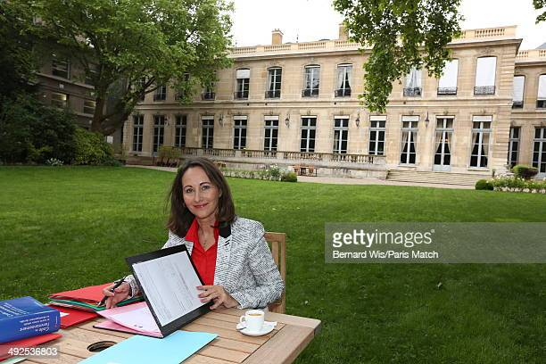 Politician and environment minister Segolene Royal is photographed for Paris Match on May 12 2014 in Paris France