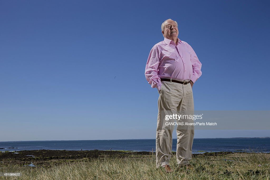 Politician and former leader of France's National Front party, Jean-Marie Le Pen is photographed for Paris Match on June 14, 2014 in Carnac, France.