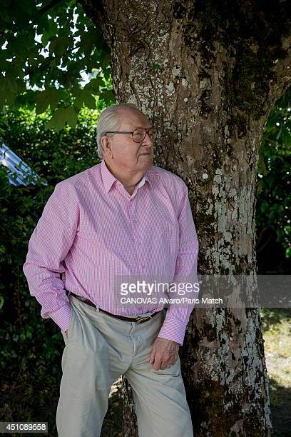 Politician and former leader of France's National Front party JeanMarie Le Pen is photographed for Paris Match on June 14 2014 in Carnac France
