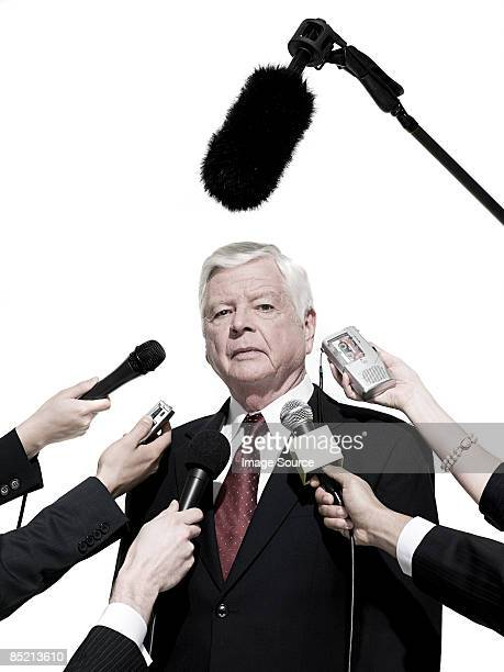 Politician and journalists