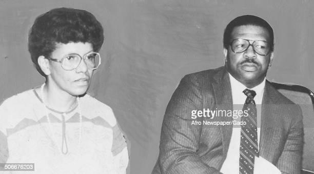 Politician and Maryland congressional representative Elijah Cummings and AfricanAmerican woman April 20 1971
