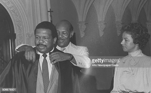 Politician and Maryland congressional representative Elijah Cummings and Vera Hall 1984