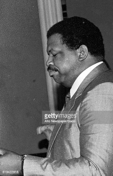Politician and Maryland congressional representative Elijah Cummings June 24 1984