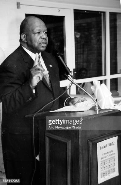 Politician and Maryland congressional representative Elijah Cummings February 24 1996
