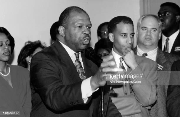 Politician and Maryland congressional representative Elijah Cummings 1988