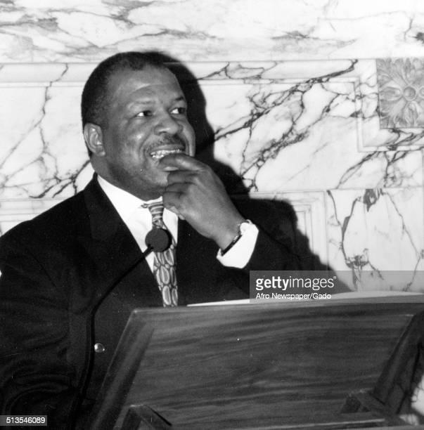 Politician and Maryland congressional representative Elijah Cummings 1985